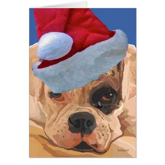 Christmas Boxer Greeeting Card