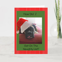 Christmas Boxer Holiday Card