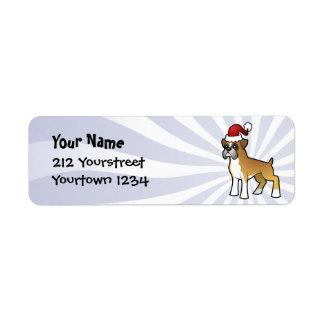 Christmas Boxer Custom Return Address Label