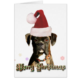 Christmas boxer notecard stationery note card