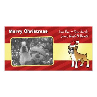 Christmas Boxer Customized Photo Card