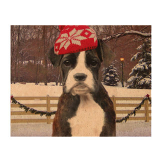 Christmas Boxer puppy dog Cork Paper