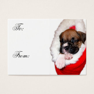 Christmas Boxer Puppy Gift tags