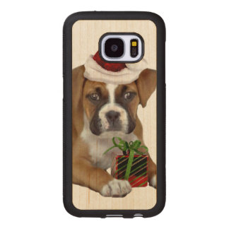 Christmas Boxer puppy Maple Samsung Galaxy S7 Case
