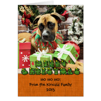 Christmas - Boxer - Vinny Stationery Note Card
