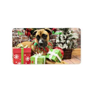 Christmas - Boxer - Vinny Custom Address Labels