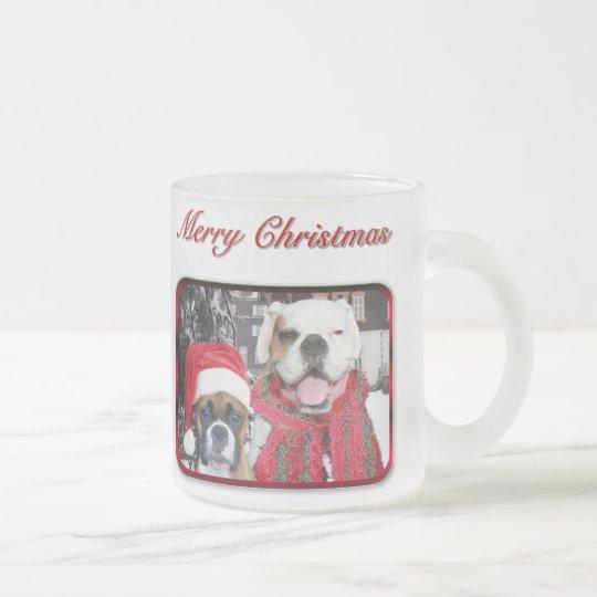 christmas boxers frosted mug