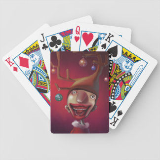 Christmas boy bicycle playing cards