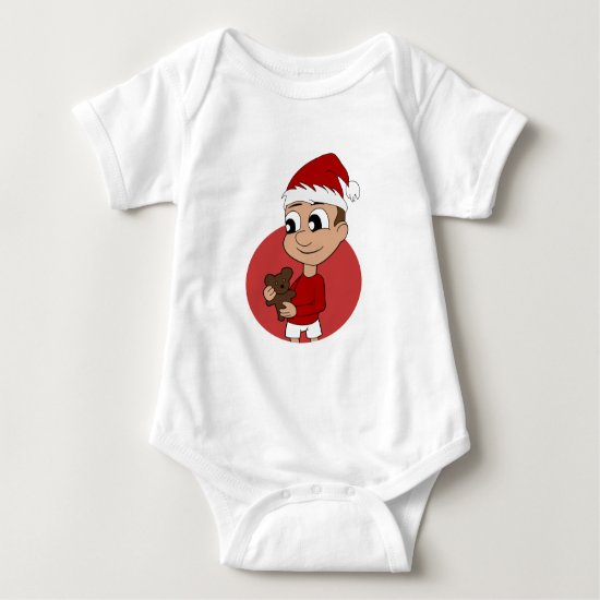 Christmas boy cartoon baby bodysuit