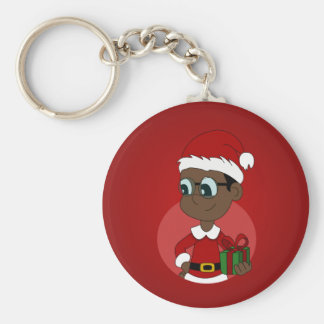 Christmas boy cartoon keychain
