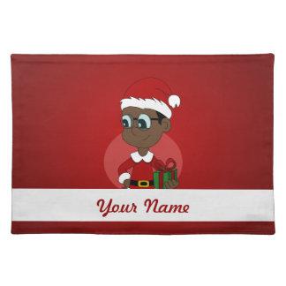Christmas boy cartoon placemat