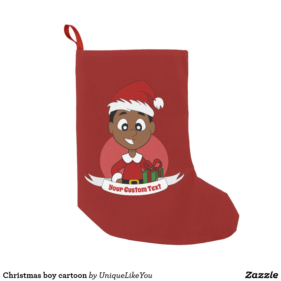 Christmas boy cartoon small christmas stocking