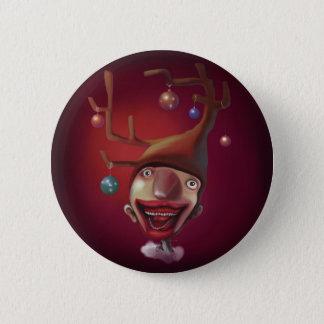 Christmas boy pinback button