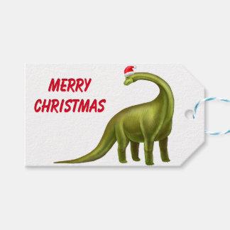 Christmas Brachiosaurus Dinosaur Gift Tags Pack Of Gift Tags