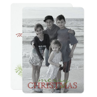 Christmas Branch Double Sided Holiday Photo Card