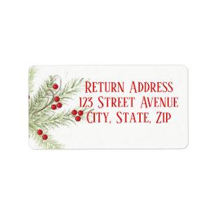 christmas return address labels zazzle