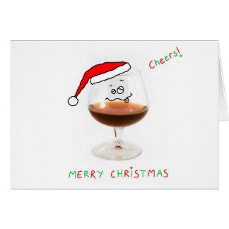 christmas brandy glass character card