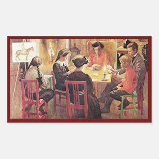 Christmas Break 1909 Rectangular Sticker
