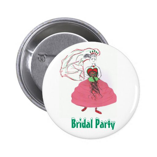 Christmas Bridal Party Buttons