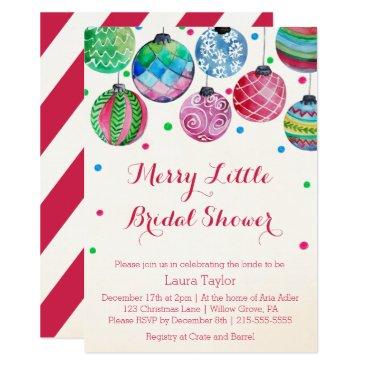 Christmas Themed Christmas Bridal Shower Invitations