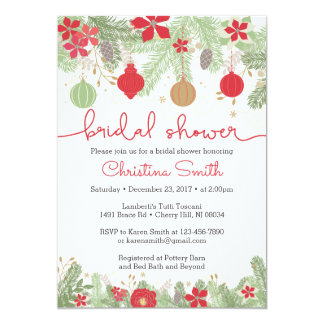 Christmas Bridal Shower Invitations