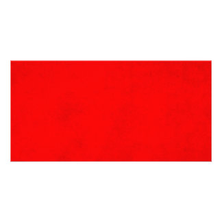 Christmas Bright Red Color Parchment Paper Blank Card