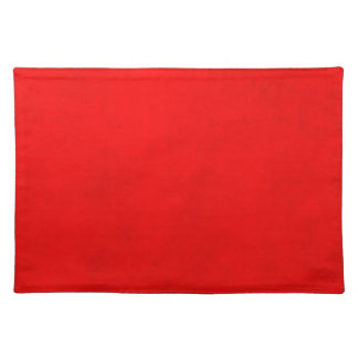 Christmas Bright Red Color Parchment Paper Blank Placemats