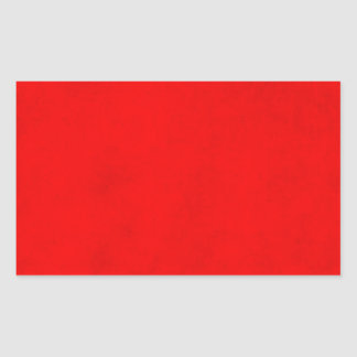 Christmas Bright Red Color Parchment Paper Blank Rectangular Sticker