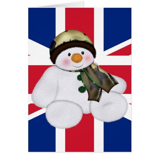 Christmas British Soldier Snowman Card