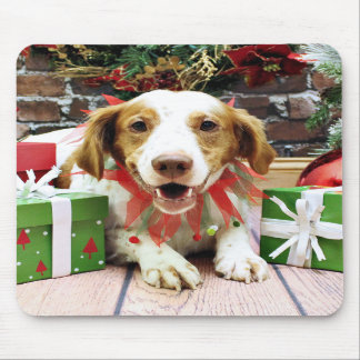 Christmas - Brittany Spaniel - Kinnick Mousepad