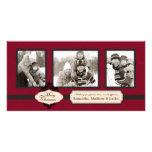 Christmas Brocade Red Photo Card
