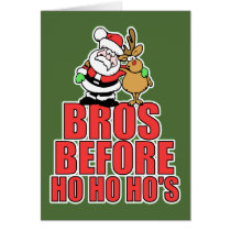 Christmas Bros Santa and Rudolph Card