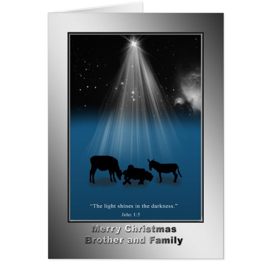 Christmas, Brother and Family, Religious, Nativity Card