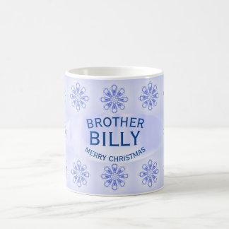 Christmas Brother Blue Snowflake Mug by Janz