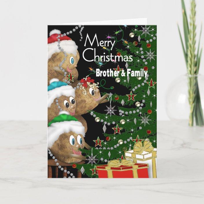 POTATO FAMILY Holiday Card
