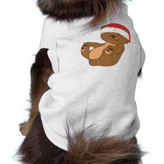 Christmas Brown Bear with Red Santa Hat Shirt