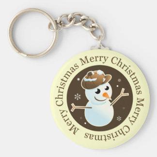 Christmas Brown Keychain