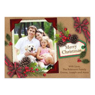 Christmas Brown Scrapbook Card