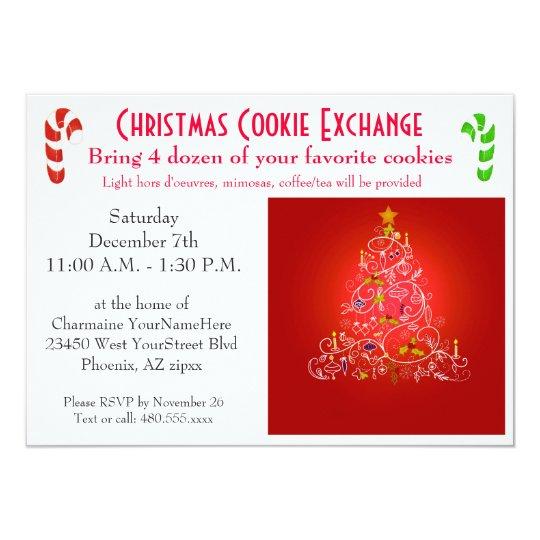 Christmas Brunch Cookie Exchange Invitation