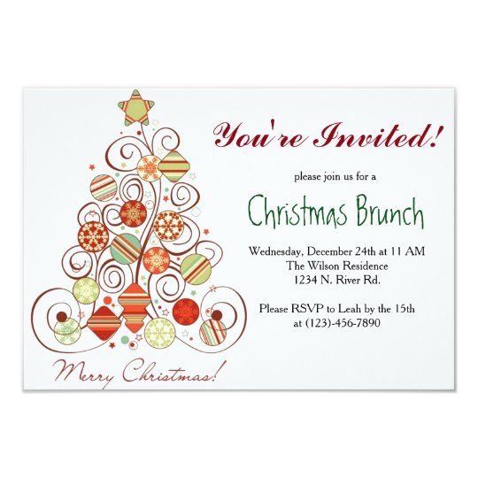 christmas brunch invitation zazzle com