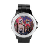 Christmas - Brussels Griffon - Marv and Marge Wristwatch
