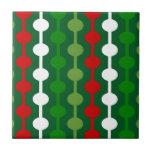Christmas Bubble Stripe Ceramic Tile