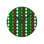Christmas Bubble Stripe Clocks