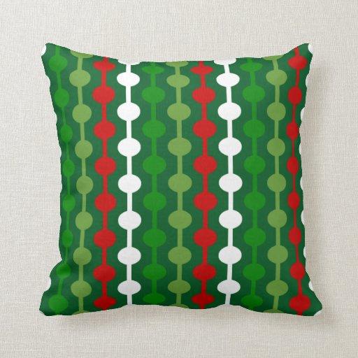 Christmas Bubble Stripe Pillow