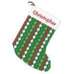 Christmas Bubble Stripe Small Christmas Stocking