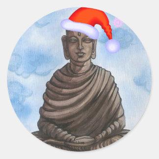 Christmas Buddha! Classic Round Sticker