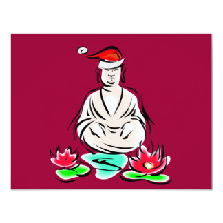 Christmas Buddha drawing Card
