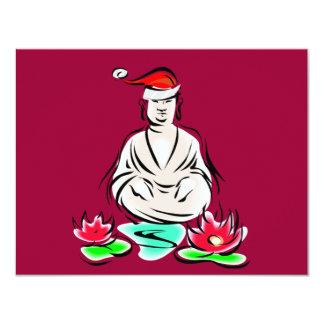 Christmas Buddha drawing Custom Invites