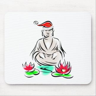 Christmas Buddha drawing Mouse Pad