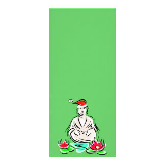 Christmas Buddha drawing Rack Card